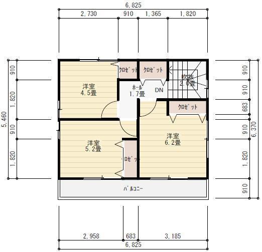 三階建て二世帯住宅間取り