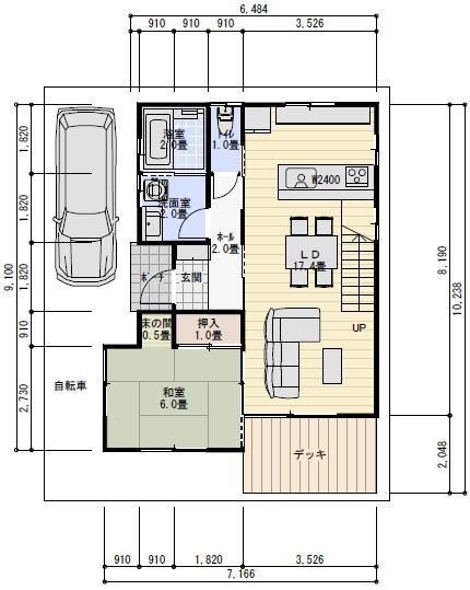リビング 10畳 リビング レイアウト : 30坪、4LDKリビング階段の間取り ...